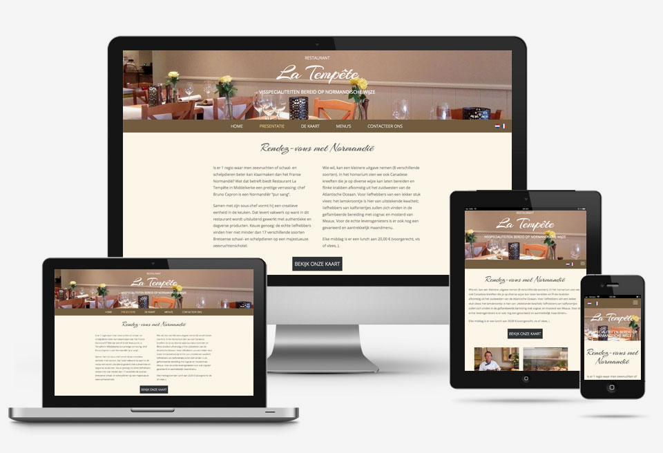 Voordelig website design restaurant