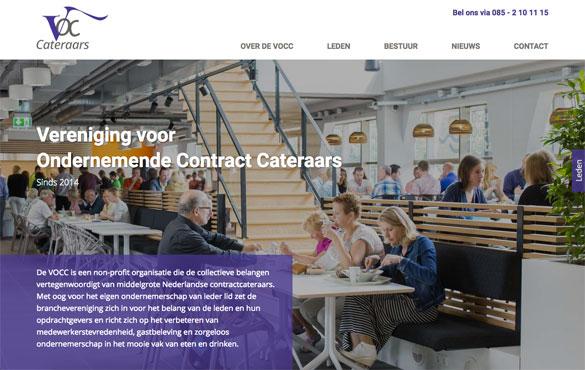 Website gemaakte voor de Vereniging voor Ondernemende Contract Cateraars